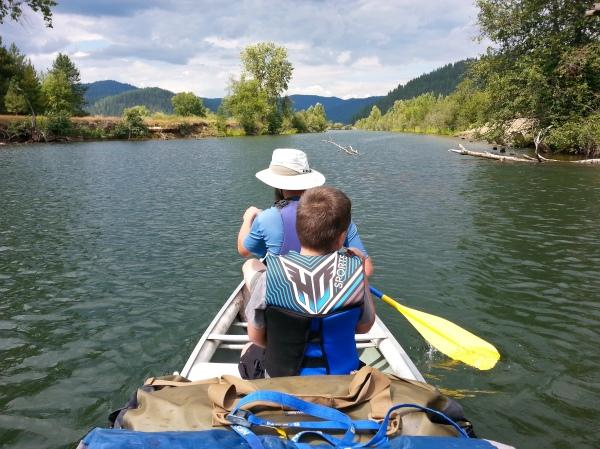 Killarney Lake Canoe Camp, Coeur d'Alene River, Idaho